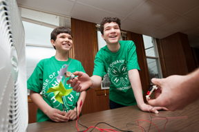 two 4-Hers participate in wind power project; photo by Edwin remsberg, USDA