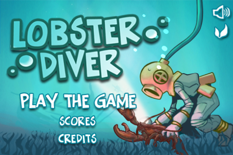 Lobster Diver app screen shot