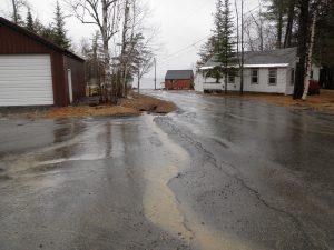 stormwater runoff heading toward lake