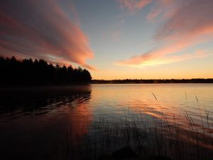 sunset over Big Indian Lake; photo by C.D. Eves-Thomas