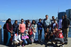Community Central teen leaders at Boston Harbor