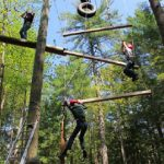 4-Hers on ropes course