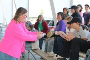 4-Hers receiving information at Dog Camp