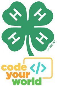 4-H logo and Code Your World art