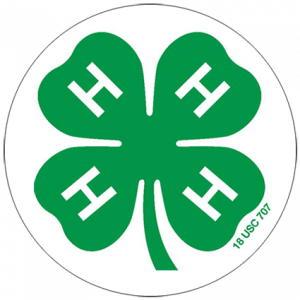 4-h logo in a circle border