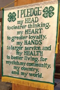 Banner with 4-H Member Pledge