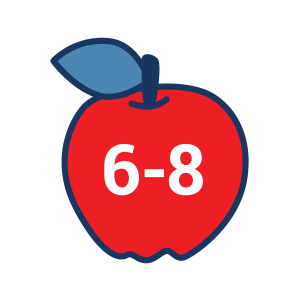 Grades 6-8 apple icon for 4H Project Kits