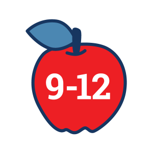 Grades 9-12 apple icon for 4H Project Kits