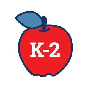 Grades K-2 apple icon for 4H Project Kits