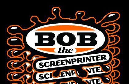 logo for bob the screenprinter