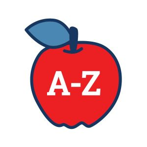 An Apple with A-Z in it