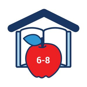 icon graphic for learn at home 6-8 grade levels