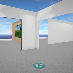screenshot of virtual exhibit hall