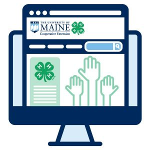 4-H volunteer online resources icon