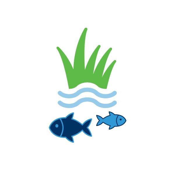 Marine science and aquaculture icon