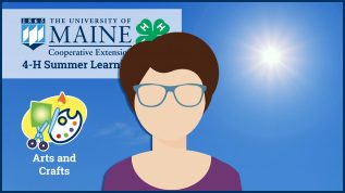 4-H Summer Learning Series participant icon in front of a virtual background graphic
