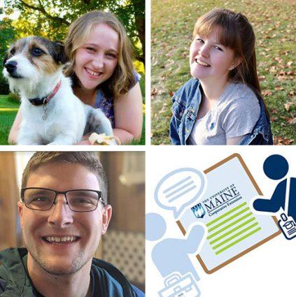 Interns Mackensie Schofield, Allison Merriman, and Jonathan Warren