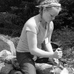 4-H'er practicing outdoor survival skills