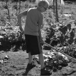 4-H'er working in the garden