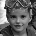 Young 4-Her with goggles