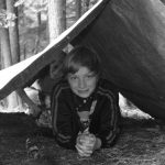 4-Her in a tent-like shelter