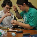 4-Hers conduct a science experiment