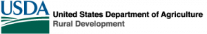 Logo for the USDA's Rural Development branch