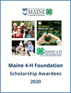 cover art for Maine 4-H Foundation Scholarship Awardees 2020 booklet