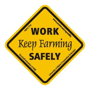 Work safely, keep farming safety decal image