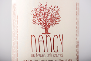 "Label for ""Nancy"" cerise"