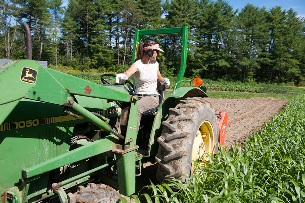 Image result for woman on tractor
