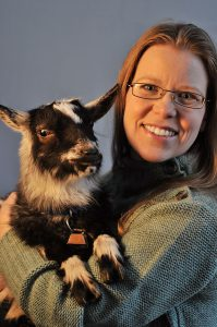 Rolnick with goat