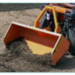 rear-facing bucket implement