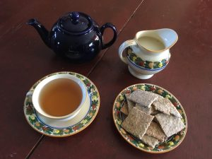teapot and crackers