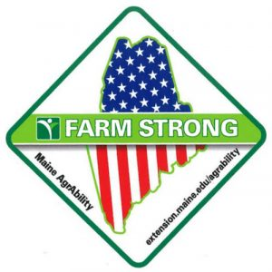 Maine AgrAbility Farm Strong Sticker