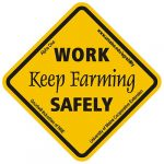 Maine AgrAbility Work Safely, Keep Farming Sticker