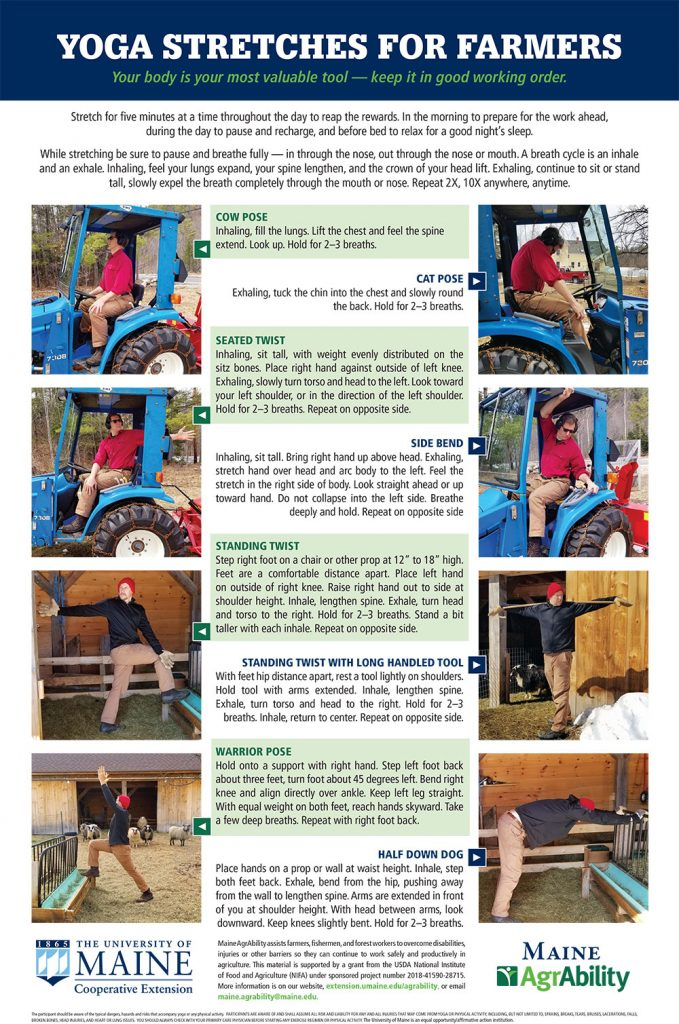 Screenshot of Yoga Stretches for Farmers poster