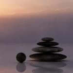 grey rocks stacked