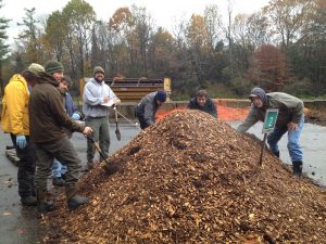 Students at the Maine Compost School involved in a compost pile troubleshooting activity