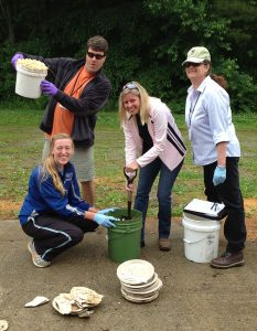 Students at the Maine Compost School involved in a compost recipe exercise