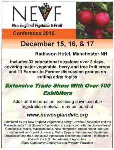 2015 New England Vegetable and Fruit Conference ad