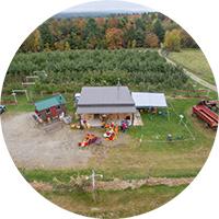 aerial view of apple farm