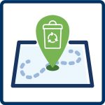 drop off sites icon for recycling fact sheet web page