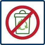 materials not collected icon graphic for recycling fact sheet