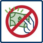 icon for no fee for recycling fact sheet