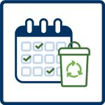 program dates icon for recycling fact sheet