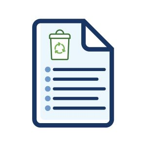 icon to represent recycling fact sheet on home page