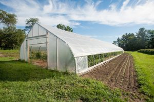 LDPE #4 plastic-covered hoop house