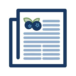 icon graphic for blueberry publication landing page