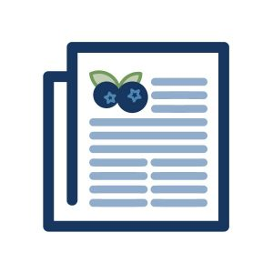 icon graphic for blueberry publications, home page